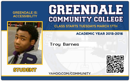 Troy Barnes school ID